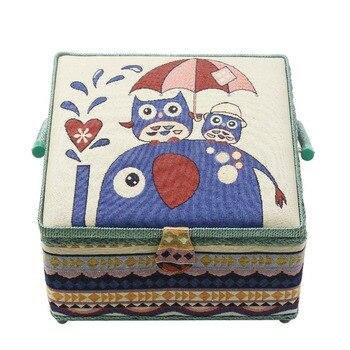 Большие наборы для шитья швейная коробка ткань швейная корзина для хранения шовная игла швейные нитки инструменты корзина для хранения в б...