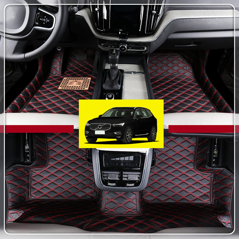 For VOLVO XC60 2018 Customs Car Floor Mat Carpets Leather Front & Rear Foot Mats Pads Auto accessories Car Styling 4pieces set ferodo front car brake pads for volvo xc60 t 2 0 t6 3 0 t6 3 0 fdb4238