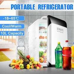 10 л холодильник мини холодильник компрессор DC12V/AC220V Портативный Автомобильный авто-холодильник автомобильный холодильник для кемпинга-18-65 ...