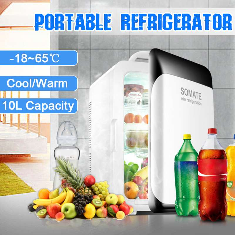 10L Refrigerator Mini Fridge Compressor  DC12V/AC220V Portable Car Auto-Refrigerator Car Fridge Camping Freezer -18-65 Degrees