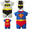 Superman cape climbing children infant romper clothes with short sleeves in summer fashion cool baby superman Romper leotard