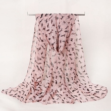 LARRIVED Chiffon Silk Scarf Women 2019 Luxury Brand Female Summer Autumn Long Design Air Conditioning Cape Shawl