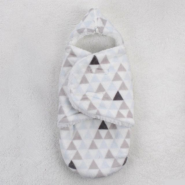 Fleece Baby Sleeping Bag Swaddle