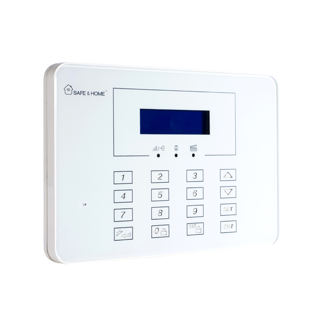 (1 set) 433mhz Intelligent Home Security wireless alarm system SMS GSM alarm touch panel PIR Motion alarm magnet sensor freeship