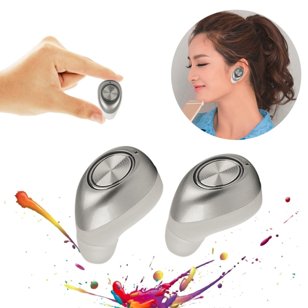 Mini Wireless Bluetooth Headset In-Ear Earphone Earbuds Headphone with Lightweight and Compact Portable Design Hot Sale