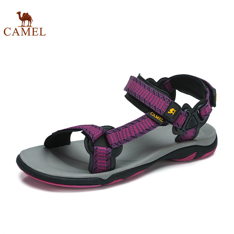 CAMEL New Trend Woman Fashion Casual Summer Sandals Ladies Wild Buckle Models Beach Sandals Outdoor Comfortable Flat Shoes