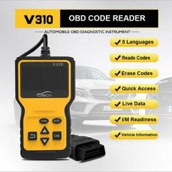 Detektor usterek V310 OBD2 narzędzie diagnostyczne do samochodów skaner diagnostyczny uniwersalny OBDII narzędzie diagnostyczne do samochodów ODB2 sprawdź skaner silnika