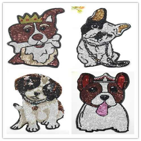 2019 New Fashion DIY Applique Embroidery Applique Costume Decoration Dimensional Dogs Patch Cute