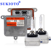 SUKIOTO Original d1s 55w projector hid kit d3s d8s d1s canbus ballast 4300K 5000K 6000K 8000K Car headlight kits Lamp цены