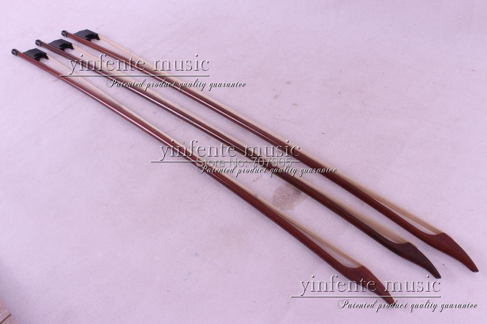 3 pcs  4/4 violin  Bow  Baroque  Brazil  Ebony f  rog High Quality New 3 # 3 pcs 4 4 violin bow baroque ebony straight high quality r3 1
