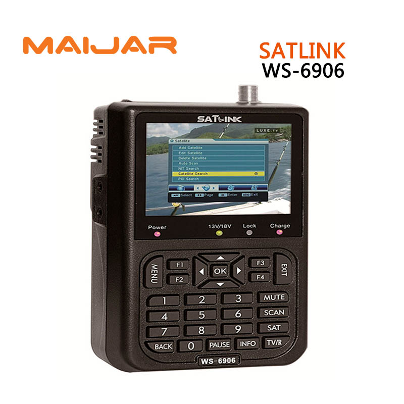 Original Satlink WS-6906 3.5 DVB-S FTA digital satellite meter satellite finder ws 6906 satlink ws6906 free shipping post original satlink ws 6965 digital satellite meter fully dvb t
