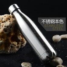 500 ML/1000 ML edelstahl weinflasche form thermosflasche reise vakuumflasche flasche für wasserflaschen bowling auto wasserkocher