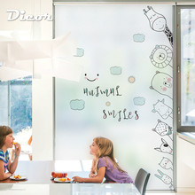 DICOR kawaii cute cartoon stained glass sticker for kids room lovely window accessories Korean fashion BLT2210