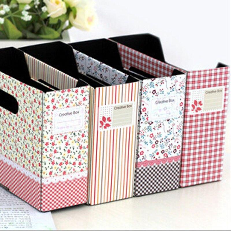 Creative Brand New Houseold Storage Supplies,Korean Style Pastoral Floral Desktop Storage Box Officer Storage Boxes XH05122