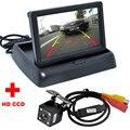 Автопарк Помощь Новый 4LED Ночного Видения Автомобиля CCD камера Заднего Вида камера С 4.3 дюймов Цветной ЖК-Автомобилей Видео Складная Монитор Камеры