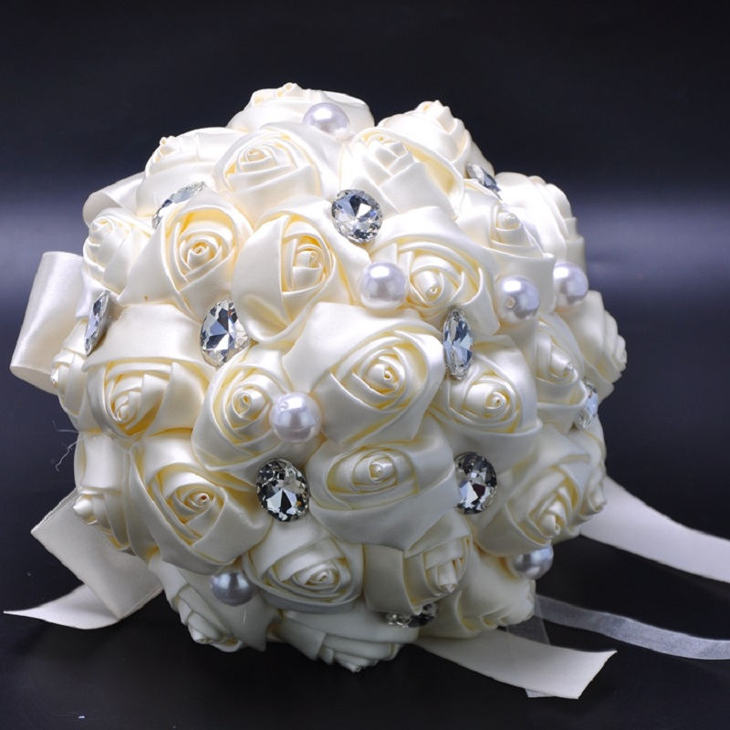 Wedding Bouquet Crystal Flowers: Aliexpress.com : Buy Pretty Wedding Bouquets For Bride
