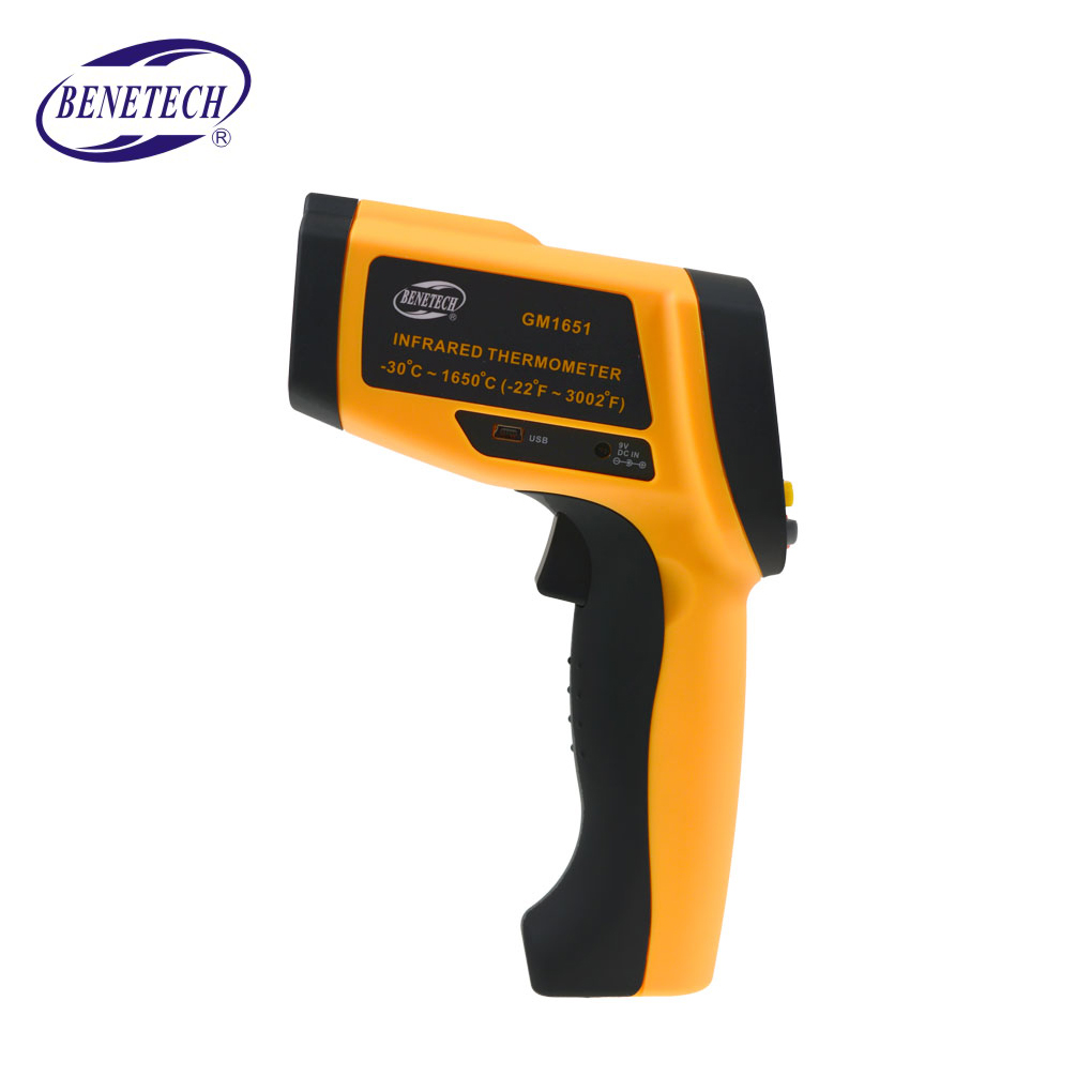 Benetech GM1651 USB Digital Infrared Thermometer Non-contact IR Thermometer Tester Range benetech gm320 1 2 lcd infrared temperature tester thermometer orange black 2 x aaa