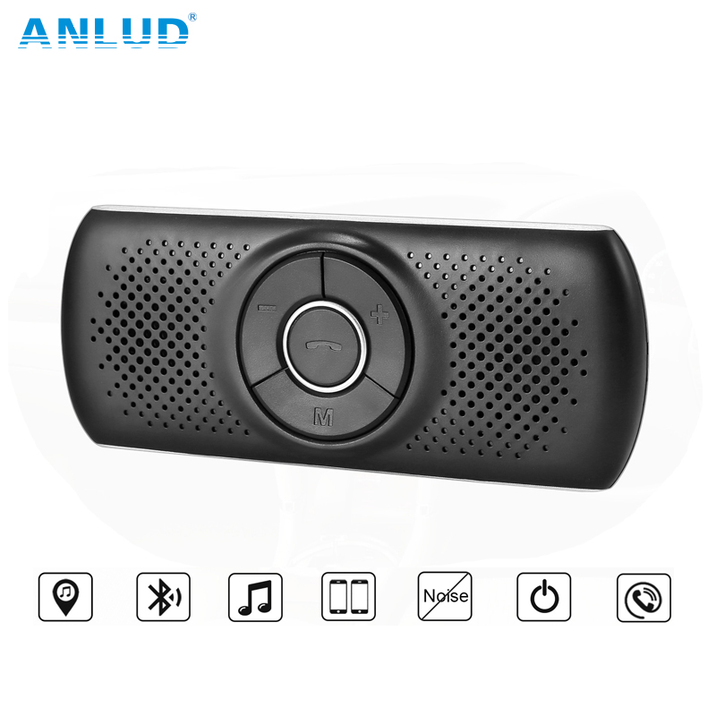 Kextech Car Bluetooth Music Receiver With Hands Free Function: ANLUD Sunvisor Bluetooth Car Kit Handsfree Audio Music Transmitter Player Multi Function Car