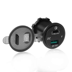 Image 5 - Waterproof 12V 24V Type C PD QC 3.0 USB Car Charger LED Voltmeter Power Adapter For Smart Phone Tablet Boat Motorcycle New