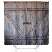 """Svetanya 71×71 """"деревянная дверь принт Шторы для душа Ванны продукты Ванная комната декор с Крючки Водонепроницаемый"""