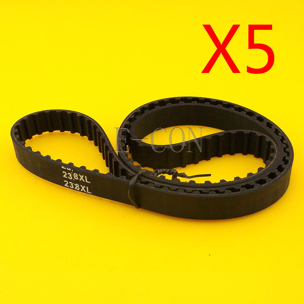 5pcs 238XL Timing Belt L039 119Teeth Width 0.39inch(10mm) XL Positive Drive Pulley for CNC Stepper Motor and Engraving Machine
