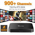 Europa Francés Árabe IPTV Caja TX5PRO S905X Canales incluido Android 6.0 TV Box Soporte Sport Canal Plus Francés Iptv Set Top Box