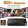 Europa Francês Árabe Canais de Caixa De IPTV S905X TX5PRO incluído Android 6.0 Caixa de TV Suporte Esporte Canal Plus Francês Iptv Set Top Box