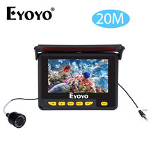 EYOYO 4.3″ 20M Infrared IR Underwater Ice Fishing Camera Ocean River Lake Sea Fish Finder 8PCS LED Camera for Underwater Fishing