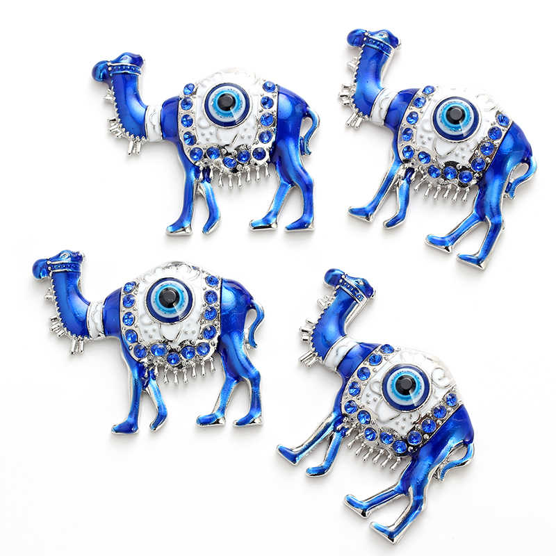 Lucky Eye Camel Charms Magnets Dripping Oil Alloy Evil Eye Jewelry Decal Wall Stickers Room Magnetic DIY Wall Hanging EY4736