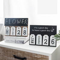 2019 Beach Wall Planner Table Desktop Calendar Organizer Office Family Birthday Supplies Calendars Wooden Words Decor Board
