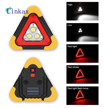 3*COB Work Light Solar Power 5 Modes LED Flashlight Floodlight Searchlight Waterproof USB Rechargeable Bank