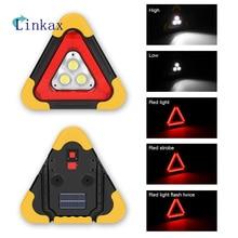 3*COB Work Light Solar Power Work Light 5 Modes LED Flashlight Floodlight Searchlight Waterproof USB Rechargeable Power Bank недорого