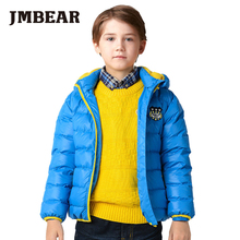 JMBEAR boys thick down coat kids winter jacket white duck down good as goose fur warm parka for children 3-14years