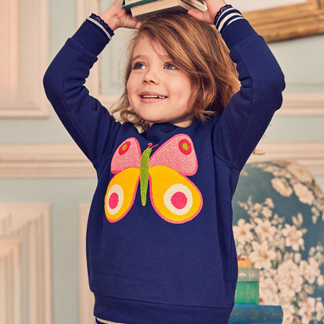 Toddler Baby Boys Girls Long Sleeve Cartoon Fox Bow Print Tops Hoodie Clothes