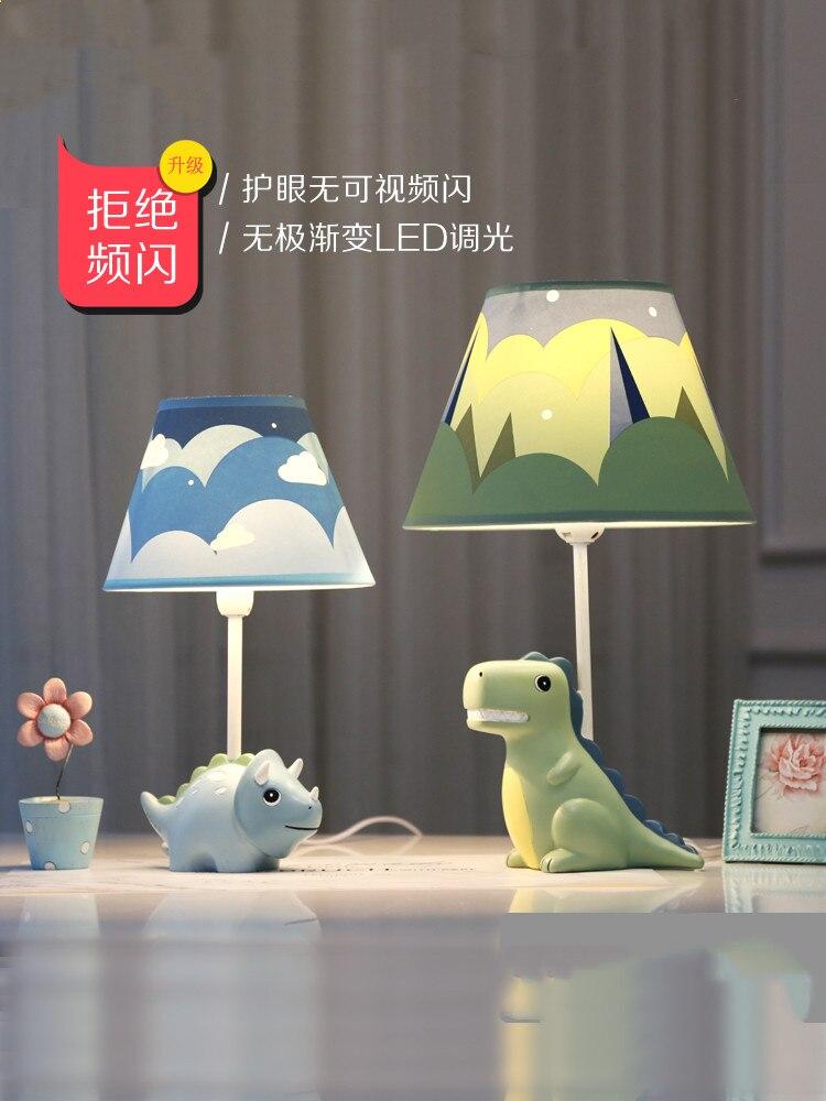 Lovely creative dinosaur desk lamp boy bedroom children room lamp modern personality LED adjustable light animal table lamp