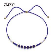 ZMZY богемные красочные хрустальные бусины браслет ретро Регулируемая Веревка Этнические браслеты для женщин много оптом любовь подарок