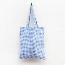 Livraison Gratuite Mode Toile Femmes Sacs à Bandoulière Bleu Plaid Femmes Sacs À Main Sac Messenger sac L130