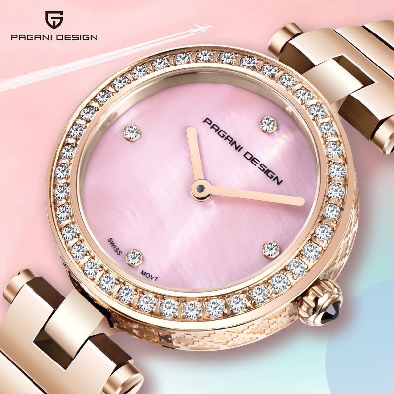 PAGANI 2019 New Women Watches Wrist Watch Luxury Brand Diamond Ladies Quartz Stainless steel Reloj Mujer