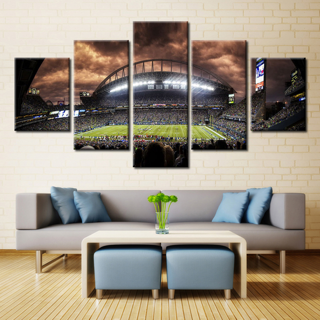 5 Panel New York Yankees Stadium Wall Art Picture Home Decor Living Room Canvas Print