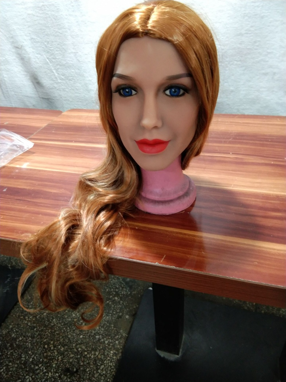 AILIJIA Oral Sex Doll Heads with m16 Connector Silicone Doll Mold for Big Size Love Dolls 135cm-176cm Sex Toy Doll(Head Only)