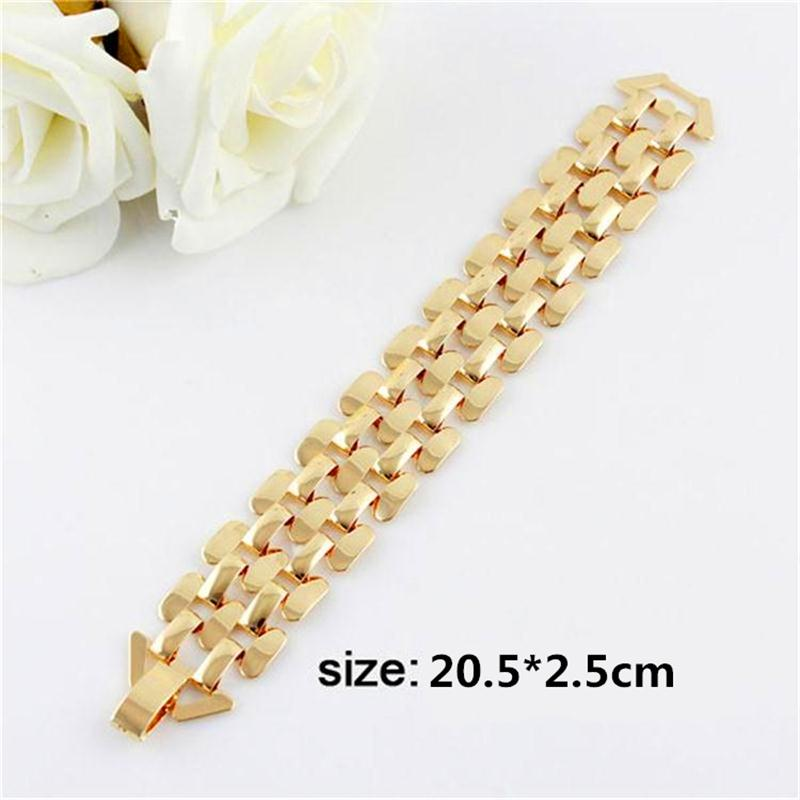 Gold Silver Color Zinc Alloy Hollow Out Punk Bracelet And Bangles Fashion Jewelry Men And Women