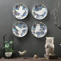 Creative Lovely Bird Ceramic Decorative Plate Living Room Office Bedroom Wall Hanging Plates