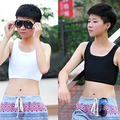 SMT206Girl's Casual Breathable Buckle Short Chest Breast Binder Corset Undershirt Vest New Arrival