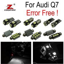 26 шт. светодиодный фонарь номерного знака+ интерьерный купольный светильник карта комплект для Audi Q7 4L(2005