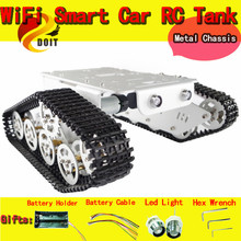 Official DOIT RC Metal Robot Wall-e Tank Car Chassis With High Torque Motor Hall Sensor Speed Measure Tracked Caterpillar