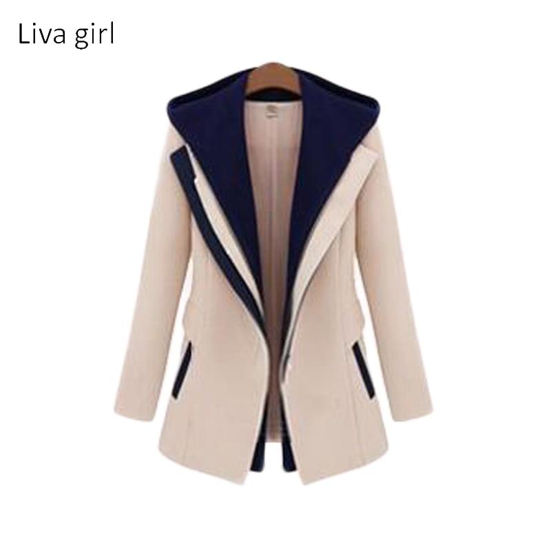 Blue Hooded Drawstring Boyfriend Trends Jean Swish Pockets Two Piece Outerwear Women Long Sleeve Buttons Coat