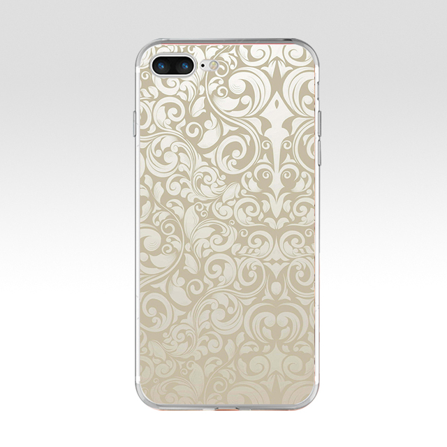 89h Black And White Flower Wallpaper Soft Tpu Silicone Cover Case For Apple Iphone 6 6s 7 8 Plus Case Half Wrapped Cases Aliexpress