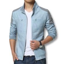Spring Summer 2016 Men Jackets Fashion Casual Men's Coats Slim Fits Plus Size 3XL 3 Colors Linen Men's Clothing Soft Outwears