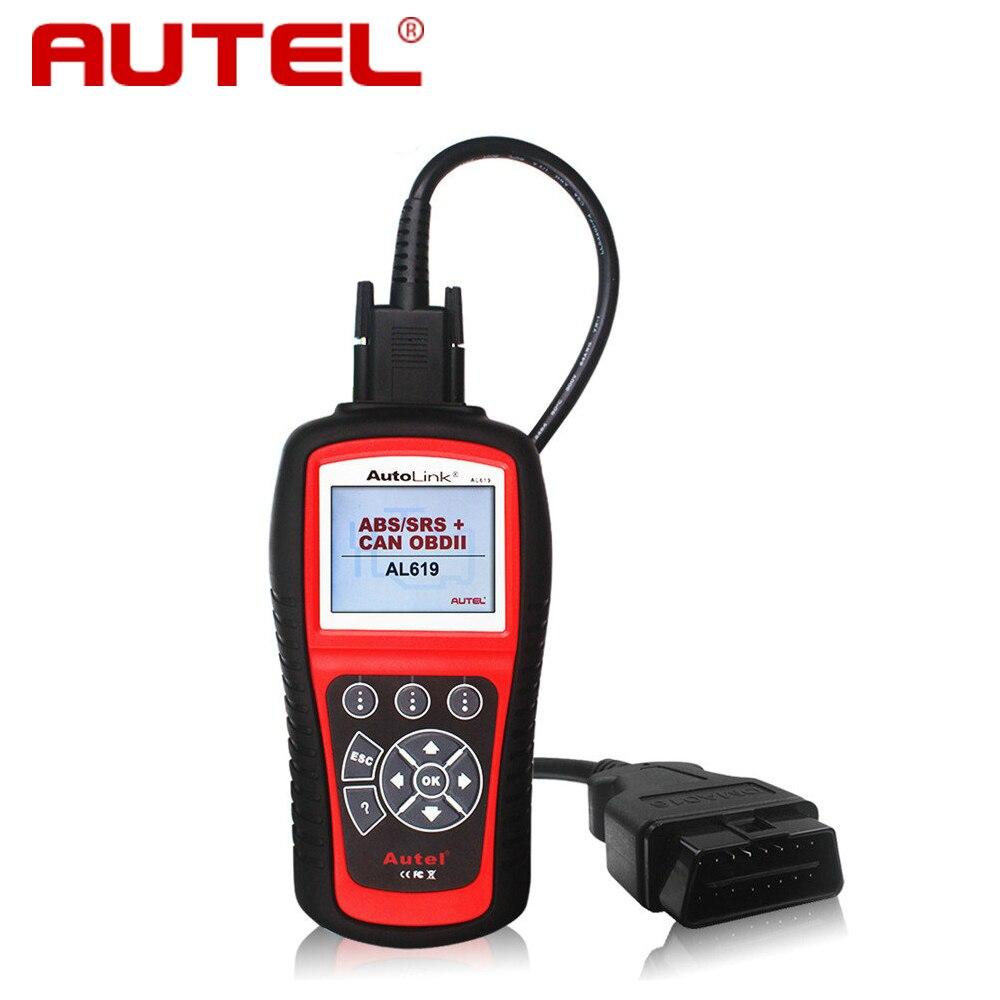 Prix pour Autel Autolink AL619 ABS SRS réinitialiser CAN OBDII Outil D'analyse De Diagnostic AL 619 désactiver Check Engine Light efface les codes moniteurs de remise