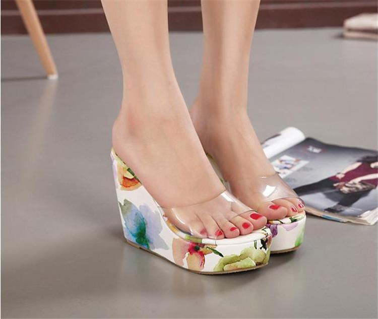 Clear Wedge Sandals Women S Shoes